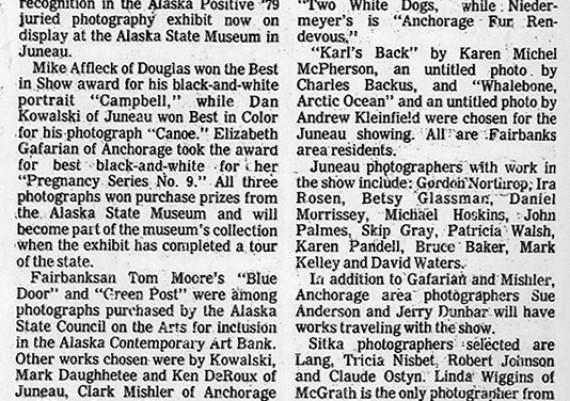 1979, Alaska State Museum, Alaska Positive 79, Daily News Miner, Fairbanks, Alaska