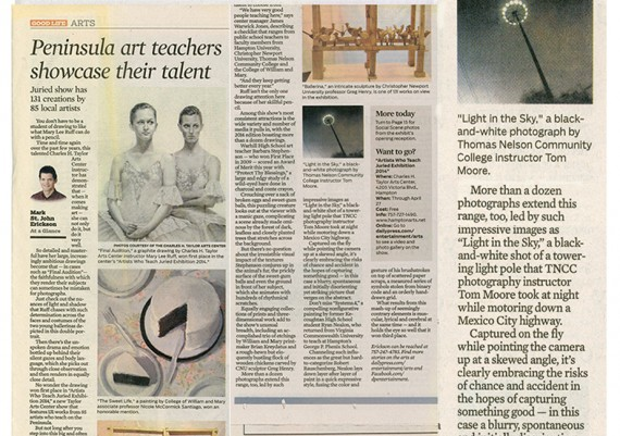 2014, Artist Who Teach, Daily Press Review, Hampton, Virginia (with detail)