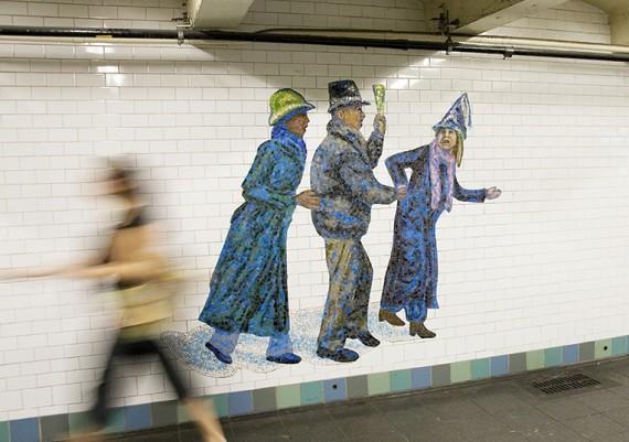 Blurry Woman in Metro