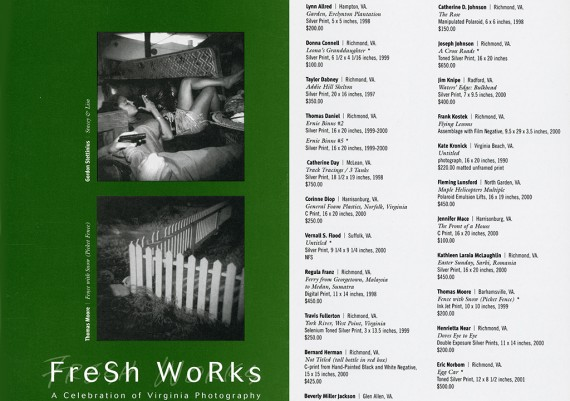 2001, Fresh Works, 1708 Gallery, Richmond, Virginia
