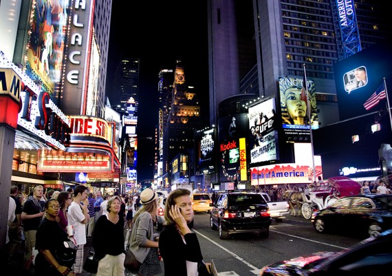 Times Square Woman on Cellphone