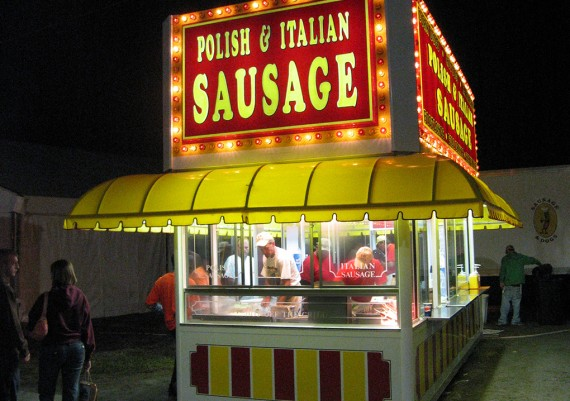 Poilish and Italian Sausage Stand, Virginia State Fair